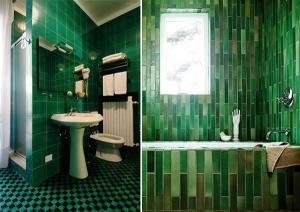 Diseño de Baños de color Verde 10