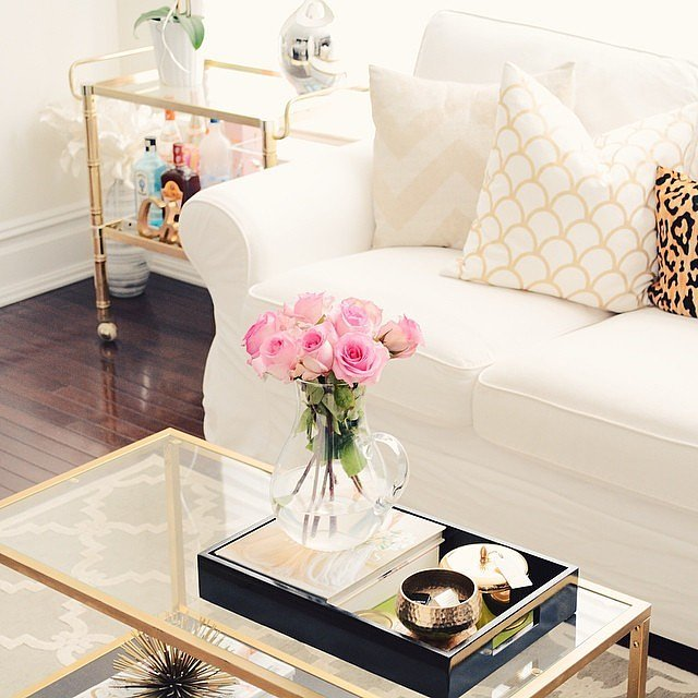 find-black-gold-tray-completes-coffee-table