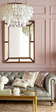 casa rosa y gris